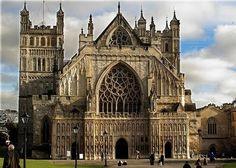 Catedral de San Pedro de Exeter, Devon, Gran Bretaña. Una de las grandes catedrales de Inglaterra y uno de los mejores ejemplos de arquitectura gótica. Templo anglicano terminado hacia el año 1400.