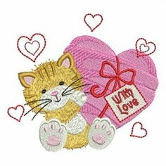 Valentine Animal 9 - 4x4   What's New   Machine Embroidery Designs   SWAKembroidery.com Ace Points Embroidery