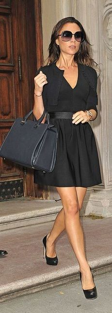 Sweater - Azzedine Alaia Dress and purse - Victoria Beckham collection