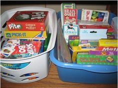 Board Game storage solutions Playroom Storage, Playroom Decor, Playroom Ideas, Basement Ideas, Board Game Storage, Board Games, Relay Games, Outside Games, Holiday Games