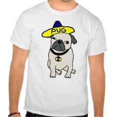 Mexican Pug T-T Shirt, Hoodie Sweatshirt