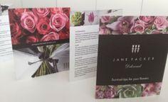 Caring for flowers booklet for Jane Packer Ltd.