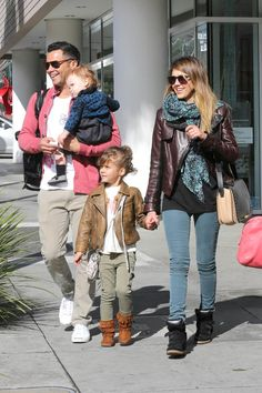 Jessica Alba and her Fashionable Family step out for Breakfast in Beverly Hills