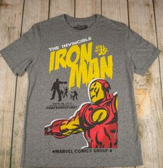 t-shirt IRON MAN comic book cover print RETRO Old navy Collectabilitees sz S  #OldNavy #GraphicTee