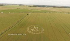 Círculo de la cosecha Aparece enigmático en Stonehenge, Nr Amesbury, Wiltshire Reino Unido 08/07/2016 | maestroviejo