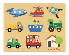 Transport puzzle Moulin Roty Children- A large selection of Toys and Hobbies on Smallable, the Family Concept Store - More than 600 brands. Wooden Jigsaw Puzzles, Wooden Pegs, Password Organizer, Baby Toys, Kids Toys, Puzzles For Toddlers, French Fabric, Baby Kind, Le Moulin