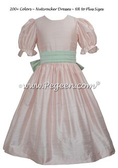 Ballet Pink and Spring Green Nutcracker Dress for Nutcracker on Ice