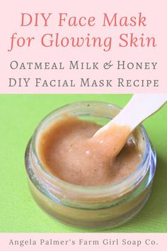 oatmeal face mask DIY Face Mask Recipe: Oatmeal, Goat Milk, and Honey DIY Facial Mask for Glowing Skin Oatmeal Facial Mask, Oats Face Mask, Honey Facial Mask, Oatmeal Mask, Facial Masks, Face Facial, Homade Face Mask, Homemade Facial Mask, Diy Face Mask