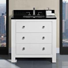 Uptown 36 Vanity - Glossy White
