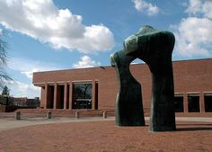 I.M. Pei designed library with Henry Moore sculpture in my hometown, Columbus, IN