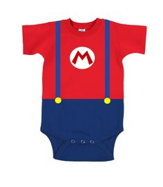 Mario Onesie, Baby Shower Gift, Super Mario Onesie, Geek Onesie, Costume Onesie, Mario Costume, Gamer on Etsy, $19.99
