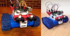 High School Teacher Creates Drogerdy, the 3D Printed Raspberry Pi Controlled Tank Bot http://3dprint.com/41264/drogerdy-raspberry-pi-bot/