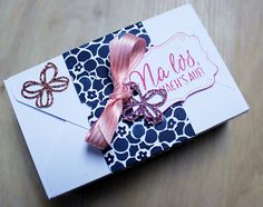 Geschenkbox, gemacht mit dem Stanz- und Falzbrett für Umschläge von Stampin up