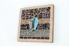 Brown Mosaic Wall Hook by GreenStreetMosaics on Etsy, $30.00