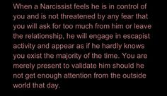 Escapist Narcissist. This explains so much.