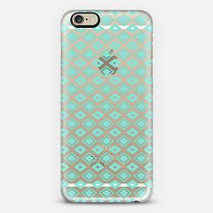 Turquoise Diamonds (transparent) iPhone 6 Case by Lisa Argyropoulos get $10 off using code: H5E5FU