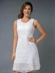 CONJUNTOS Y VESTIDOS - PRIMAVERAL Bordados y Accesorios Dresses For Work, Outfits, Fashion, White Blouses, Lace Tops, White Gowns, Short Dresses, Guayabera Wedding, Blouse Designs