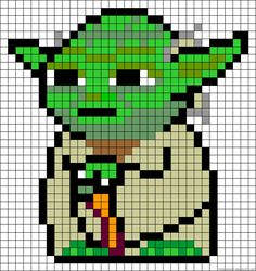 Yoda perler bead pattern. Also can be used for cross-stitch.