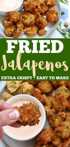Fried Jalapenos, Fried Peppers, Roasted Peppers, Fried Jalapeno Poppers, Cold Appetizers, Healthy Appetizers, Party Appetizers, Best Appetizer Recipes, Snack Recipes