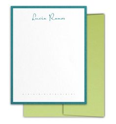 Two-Layer Correspondence Stationery With Dotted Accent by Luscious Verde Cards Wedding Invitation Design, Wedding Stationery, Personalized Stationery, Announcement, Cards, Wedding Invitation, Maps, Playing Cards, Wedding Invitations