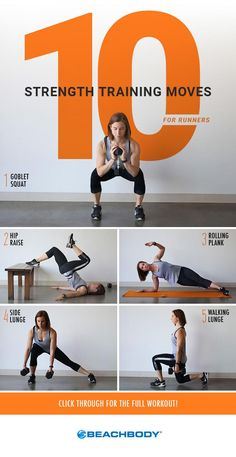 If you run, cycle, or participate in any other endurance activity, you might avoid strength training. But if you want to realize your full endurance potential, you need to lift weights. Here are some exercises to get you started. // fitness // workouts // running // Beachbody // BeachbodyBlog.com