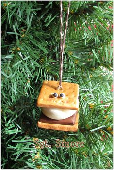 Smores Christmas Ornament Campfire Smore Ornament Smores Charm Funny Food Ornament Funny Food Camping Camper Camp Ornament Marshmallow Sgt Unique Christmas Ornaments, Christmas Crafts, Christmas Decorations, Food Humor, Funny Food, Campfire Marshmallows, Reds Bbq, Camper, Bakers Twine