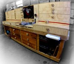 This miter saw station is designed to fit on an existing workbench. The upper units could easily be scaled and be used as base units as well if you don't have a...