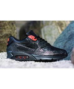 3f518f331416 Odbavení Pánské Nike Air Max 90 Deluxe Safari čErná InfračErvená Anthracite Nike  Air Max For Women