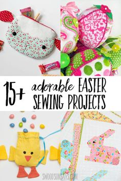 Outstanding 15 sewing hacks projects are offered on our website. look at this and you wont be sorry you did. Easy Sewing Projects, Sewing Projects For Beginners, Sewing Hacks, Sewing Tutorials, Sewing Crafts, Sewing Tips, Diy Crafts, Easter Projects, Easter Crafts