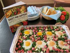 Greens & Eggs & Ham #weekdaysupper celebrating Sheet Pan Suppers Cookbook and #Giveaway!