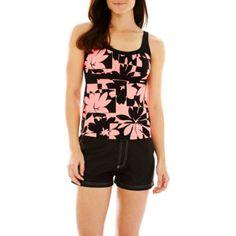 615e787320 ZeroXposur® Floral Print Peasant Tankini Swim Top or Woven Board Shorts  found at
