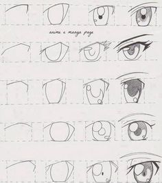 Anime Eyes Tutorial! How to draw anime eyes! I hope this helps someone out there! | this is sooooooo helpful