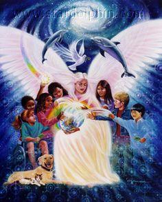 Celestia Holistic Healing - Indigo, Crystal and Rainbow children Indigo Children, Star Children, Angels Among Us, Angels In Heaven, Guardian Angels, Visionary Art, Angel Art, Rainbow Bridge, Nature Animals