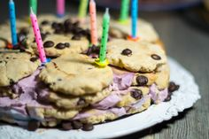 Cookie tower cake