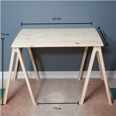 Mesa de Cavaletes Natural! - Tadah! Design