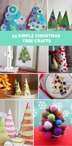 13 Simple Christmas Tree Crafts for Kids