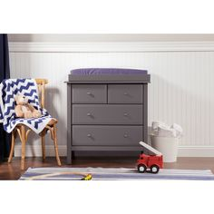 $269 - The Autumn 4-drawer Changer Dresser packages versatility with functionality. During the nursery years, the included changer tray serves as a safe and convenient changing station.