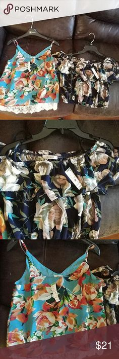 Papaya bundle Brand new with tags tropical designs perfect for spring and summer . once is small one is medium. Can purchase individually as well Papaya Tops