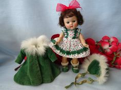 Vintage 1950s Hard Plastic Strung Ginny Doll--Layers of Original Vogue Clothing #DollswithClothingAccessories