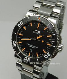 Mens Authentic Swiss Oris Aquis Date 73376534159MB Ceramic Bezel Automatic Watch