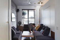Tiny 350 Square Foot Smart Apartment In New York City Studio Apartment Bed, Micro Apartment, Home Organisation, Interior Decorating, Interior Design, Home Decor Furniture, Square Feet, Interior Architecture, New York City