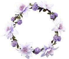 Bohemian Headdress [Mysterious Purple] Artificial Flower Hair Wreath ** Visit the image link for more details. Flower Circle, Flower Frame, Flower Art, Art Floral, Molduras Vintage, Bow Wallpaper, Flower Graphic Design, Blog Website Design, Wreath Drawing