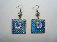 felted/mosaic earrings