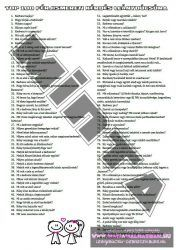 TOP100 férjismereti kvízkérédés leánybúcsúra