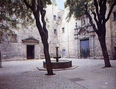 You stumble upon Placa St Felip Neri in Barcelona - it's the only way to find it. A lovely mediaeval square, one side of which is the local primary school, housed in an old convent. The rear wall of the square is peppered with bullet holes where clergy were lined up and executed during the Civil War. An Italian bomb exploded here, too, and you can see the damage it wrought all around.