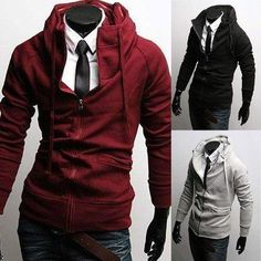 Wish | Men's Fitted Hoodies SO hot!! I can totally see bren in this!