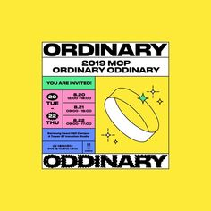 2019 MCP: Ordinary Oddinary on Behance Game Design, Web Design, Layout Design, Graphic Design Posters, Graphic Design Inspiration, Graphic Design Typography, Branding Design, Poster Layout, Catalog Design