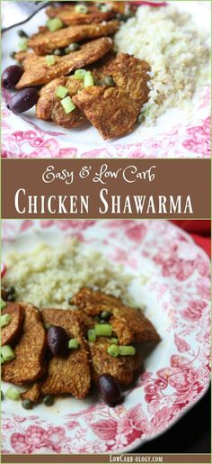 This easy, low carb chicken shawarma recipe is tender and juicy - full of flavor! Less than 2 carbs and so yummy!! Fine for Atkins Induction.  From http://www.Lowcarb-ology.com