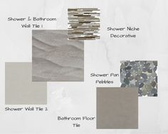 Modern meets pebbles and waves to create the perfect blend of clean lines and a beachy feel for bachelor's bathroom.