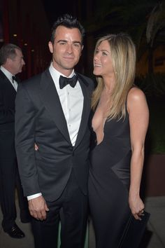Jennifer Aniston and Justin Theroux at LACMA's annual Art and Film Gala. @Celebstylewed